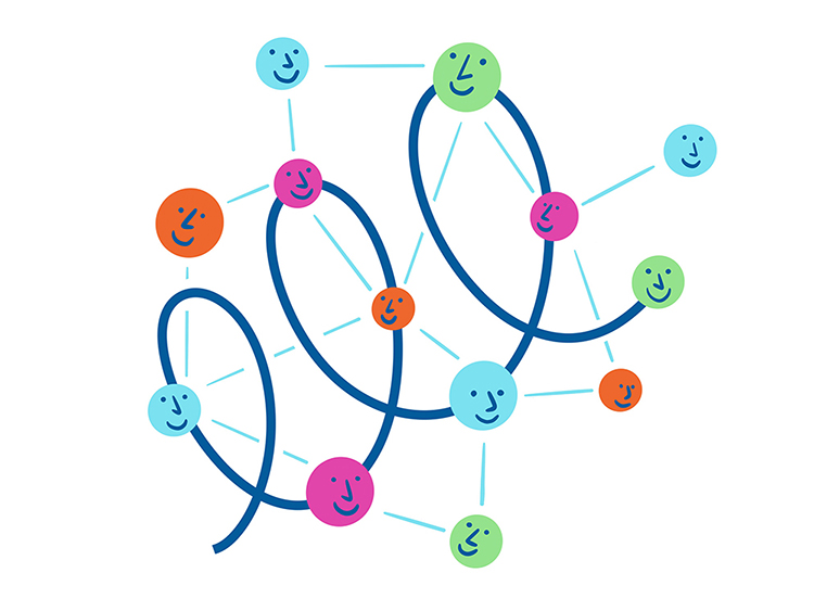 Wolke - ein Netzwerkprojektd er vielen Sichtweisen - Logo (Illustration von Coline Robin)