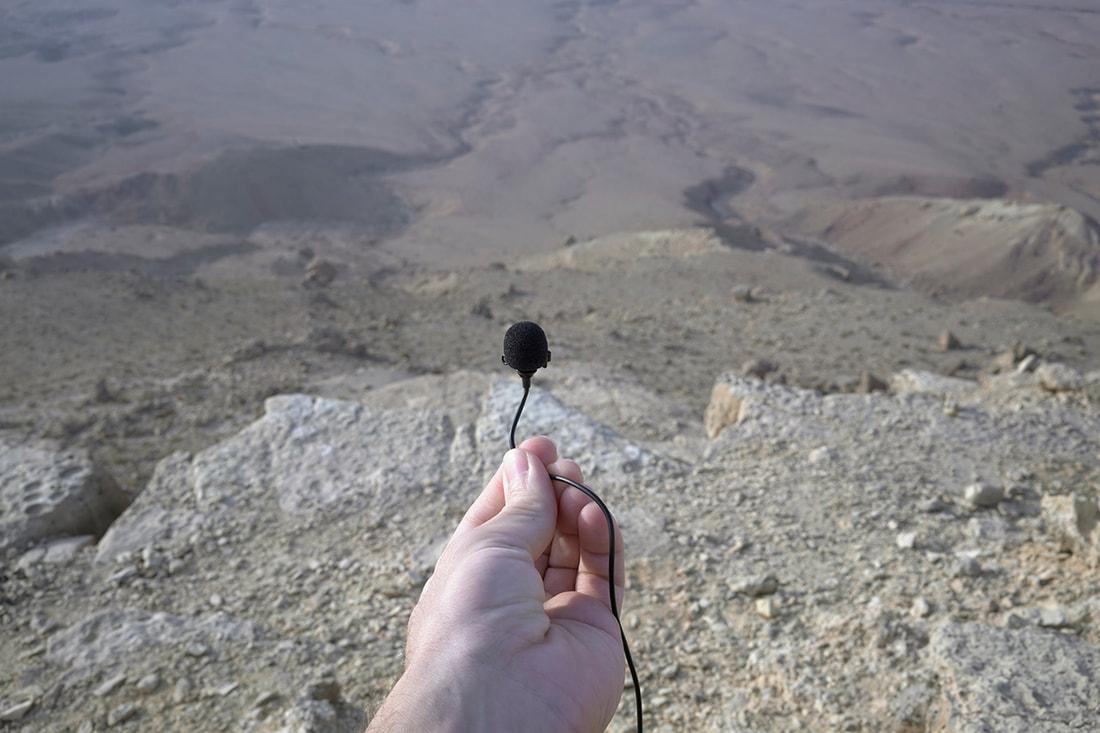 Spontaneous sound recording of the Negev, Dan Robert Lahiani to Adina Camhy, 2020, Photo: Dan Robert Lahiani