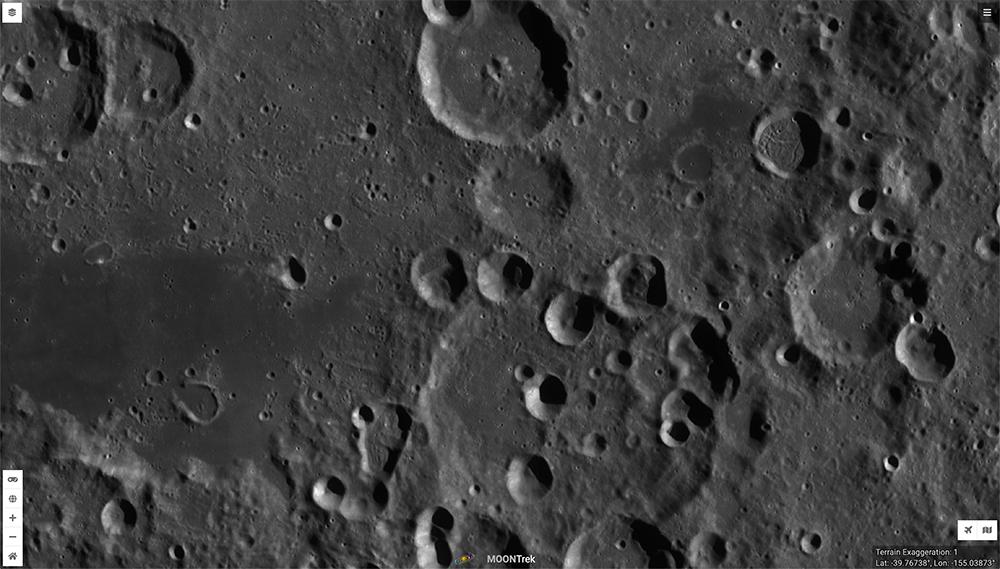 Ramon Crater, Moon, Moon Trek
